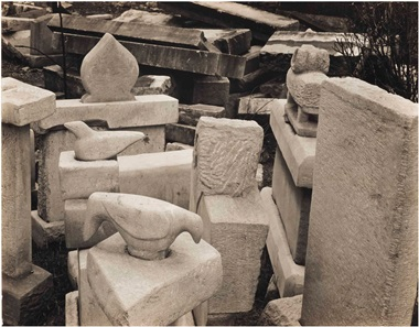 Edward Weston (1886-1958), Untitled (William Edmondson Tombstone Sculptures), 1941. Gelatin silver print, 7½ x 9½ in. This lot was offered in Courageous Spirits Outsider and Vernacular Art on 20 January 2017 at Christie's in New York and sold for $5,250