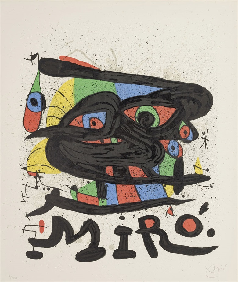 Joan Miró (1893-1983), Poster for Miró Sculptures, 1971. Image & sheet 33⅞ x 28⅝ in (860 x 728 mm). Estimate $1,500-2,500. This lot is offered in Prints & Multiples, 6-14 December 2016, Online