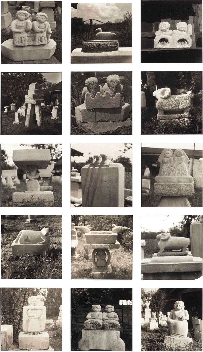 Louise Dahl-Wolfe (1895-1989), Untitled (William Edmondson Sculptures), Contact Sheet Details, c. 1937. Gelatin silver prints, the smaller 2⅛ x 2⅛ in each; the larger 2½ x 2¼ in each, (2). This lot was offered in Courageous Spirits Outsider and Vernacular Art on 20 January 2017 at Christie's in New York, Rockefeller Center and sold for $3,750. © 1989 Center for Creative