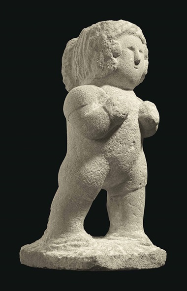 William Edmondson (1874-1951), Boxer, c. 1936. Limestone, 17 in high, 7¼ in wide, 9¼ in deep. Sold for $785,000 on 22 January 2016