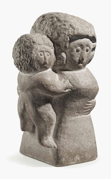 William Edmondson (1874-1951), Mother and Child. Carved limestone , 11¼ in high. Sold for $263,000 on 24 January 2014