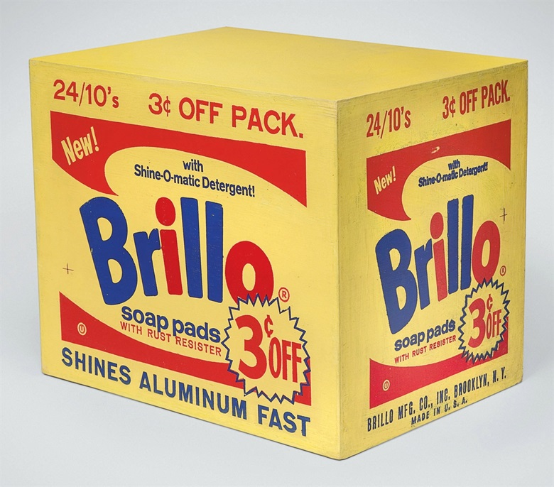 Andy Warhol (1928-1987), Brillo Box (3ȼ Off), 1963-64. Silkscreen ink and house paint on plywood. 13⅛ x 16 x 11½ in (33.3 x 40.6 x 29.2 cm). Sold for $3,050,500 on 10 November 2010 at Christie's in New York. © 2017 The Andy Warhol Foundation for the Visual Arts, Inc.  Artists Rights Society (ARS), New York and DACS, London