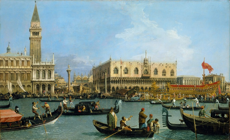 Canaletto, Venice The Bacino di S. Marco on Ascension Day, c.1733-4. Royal Collection Trust © Her Majesty Queen Elizabeth II 2016. This work will be exhibited at Canaletto and the Art of Venice at the Queens Gallery, Buckingham Palace (19 May–12 November 2017)