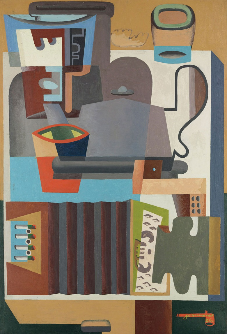 Le Corbusier (1887-1965), Accordéon, carafe et cafetière, 1926. Oil on canvas. 51¼ x 35 in (130.2 x 88.9 cm). Estimate £1,500,000-2,500,000. This work is offered in the Impressionist & Modern Art Evening Sale on 28 February at Christie's London. © FLC ADAGP, Paris and DACS, London 2017