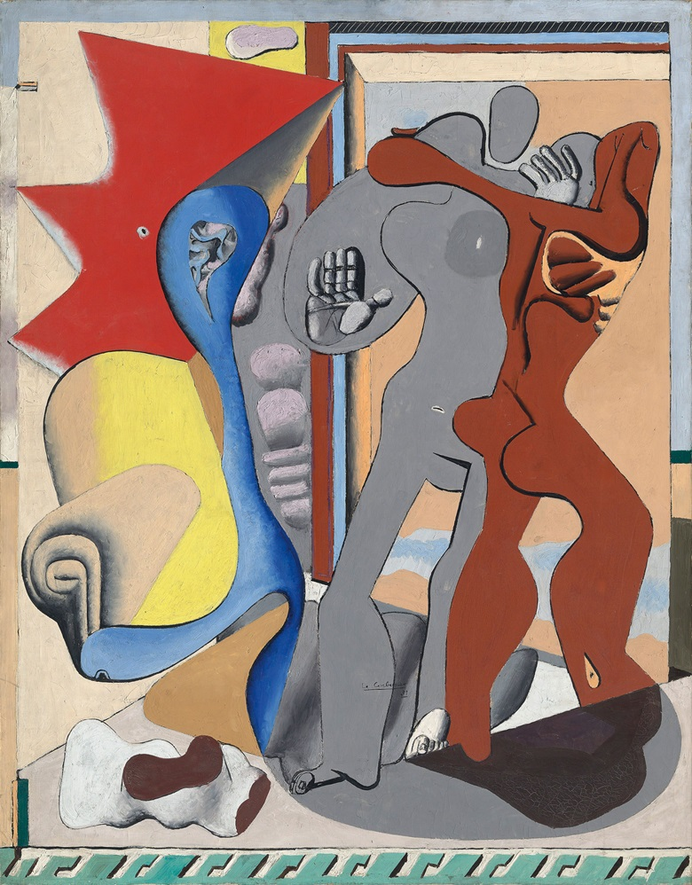 Le Corbusier (1887-1965), Femme grise, homme rouge et os devant une porte, 1931. Oil on canvas. 57½ x 44⅞ in (146 x 114 cm). Estimate £1,200,000-2,000,000. This work is offered in the Impressionist & Modern Art Evening Sale on 28 February at Christie's London. © FLC ADAGP, Paris and DACS, London 2017
