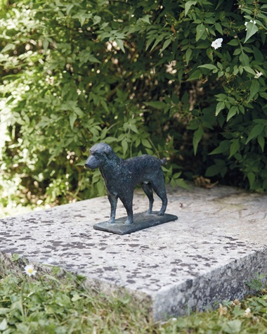 Giacometti made several sculptures of labradors for Givenchy, often basing his designs on photographs of the designers own dogs