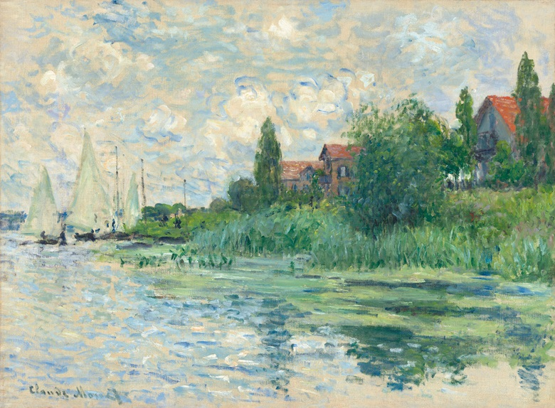 Claude Monet (1840-1926), Les Bords de la Seine au Petit-Gennevilliers, 1874. Oil on canvas. 21 38 x 28 34 in (54.2 x 73 cm). Estimate £2,000,000-3,000,000. This work is offered in the Impressionist & Modern Art Evening Sale on 28 February at Christie's London