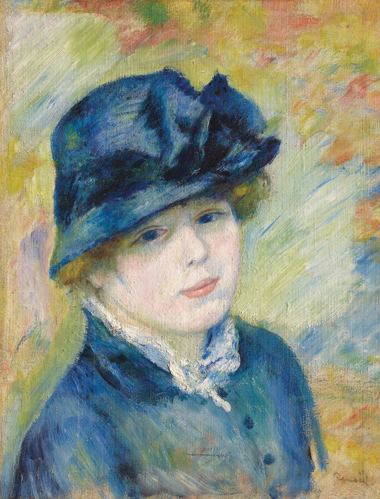 Pierre-Auguste Renoir (1841-1919), Femme au Chapeau, circa 1881. Oil on canvas. 18 12 x 14 18 in (47 x 36 cm). Estimate £700,000-1,000,000. This work is offered in the Impressionist & Modern Art Evening Sale on 28 February at Christie's London