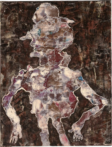Jean Dubuffet (1901-1985), Le Truand, 1954. Oil on canvas. Signed and dated J. Dubuffet 54 (upper centre); signed again, inscribed, titled and dated again Le Truand J. Dubuffet juillet 54 (on the reverse). 45½ x 35⅛ in (115.6 x 89.2 cm). Estimate $2,000,000-3,000,000. This work is offered in the Post-War and Contemporary Art Evening Sale on 17 May at Christie's in New York