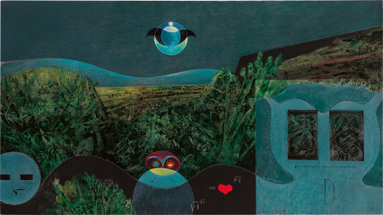 Max Ernst (1891-1976), The Phases of the Night, 1946. Oil on canvas, 35⅞ x 63⅞ in (91.3 x 162.4 cm). Estimate $4,000,000-6,000,000. This lot is offered in Impressionist & Modern Art Evening Sale on 15 May 2017, at Christie's in New York