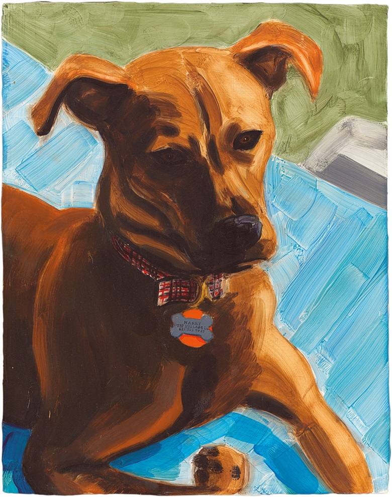 Elizabeth Peyton (b. 1965), (Dark) Harry, 2002. Oil on board 36 x 28.2 cm.  Estimate £80,000–120,000. This work is offered in the Post-War and Contemporary Art Day Auction on 8 March at Christie's London