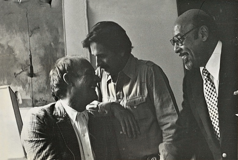 Earl McGrath (centre), with Cy Twombly (left) and Atlantic Records co-founder Ahmet Ertegun, 1976. Photograph © Camilla McGrath