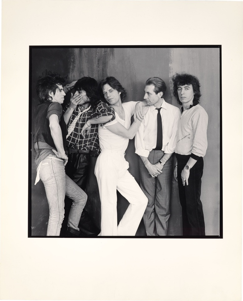 Annie Leibovitz (b.  1949), The Rolling Stones, 1980. Gelatin silver print, in four parts, each image 12¾ x 12⅜ in (32.4 x 31.4 cm), each sheet 20 x 16 in (50.8 x 40.6 cm), (4). Estimate $8,000-12,000. This lot is offered in The Collection of Earl and Camilla McGrath on 3 March 2017 at Christie's in New York, Rockefeller Center