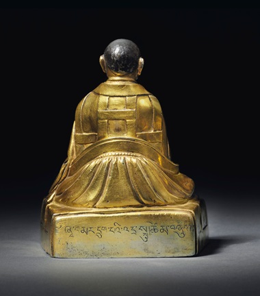 A gilt silver figure of the Sixth Shamarpa, Mipan Chokyi Wangchug (1584–1630). Tibet, 17th century. 3¾ in (9.4 cm) high. Estimate $40,000-60,000. This lot is offered in the Indian, Himalayan and Southeast Asian Art Sale on 14 March 2016 at Christie's in New York
