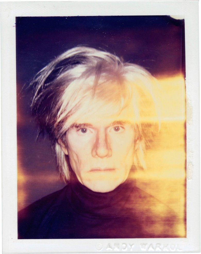 Andy Warhol (1928-1987), Self-Portrait in Fright Wig, 1986. Unique polaroid print, 4¼ x 3⅜ in (10.8 x 8.6 cm). Estimate $15,000-20,000. This work is offered in Andy Warhol@Christie's with NYFW The Shows online auction, 8-16 February 2017 © The Andy Warhol Foundation for the Visual Arts, Inc.  Artists Rights Society (ARS), New York