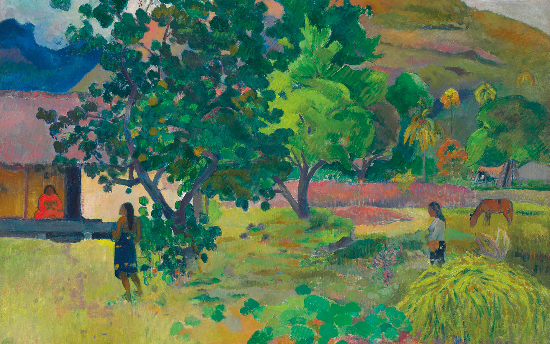 Paul Gauguin, Te Fare (La maison) (detail), 1892. Estimate £12,000,000-18,000,000. This work is offered in the Impressionist & Modern Art Evening Sale on 28 February at