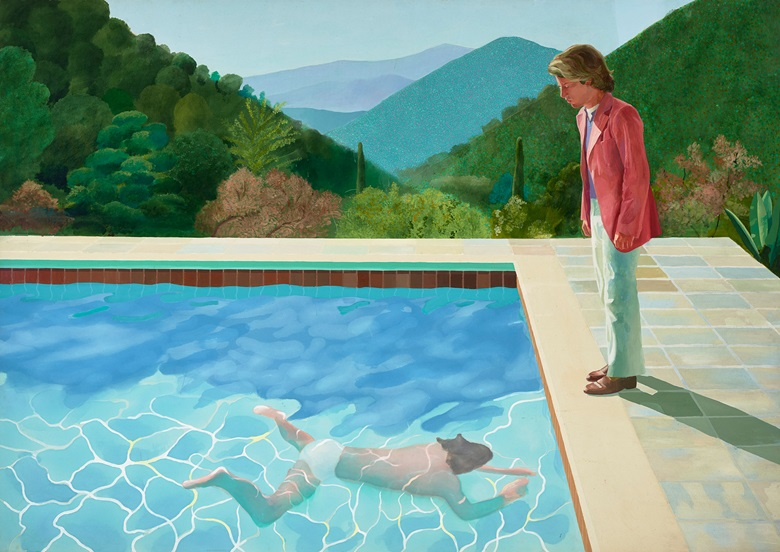 David Hockney, Portrait of an artist (Pool with Two Figures), 1972. Lewis collection © David Hockney