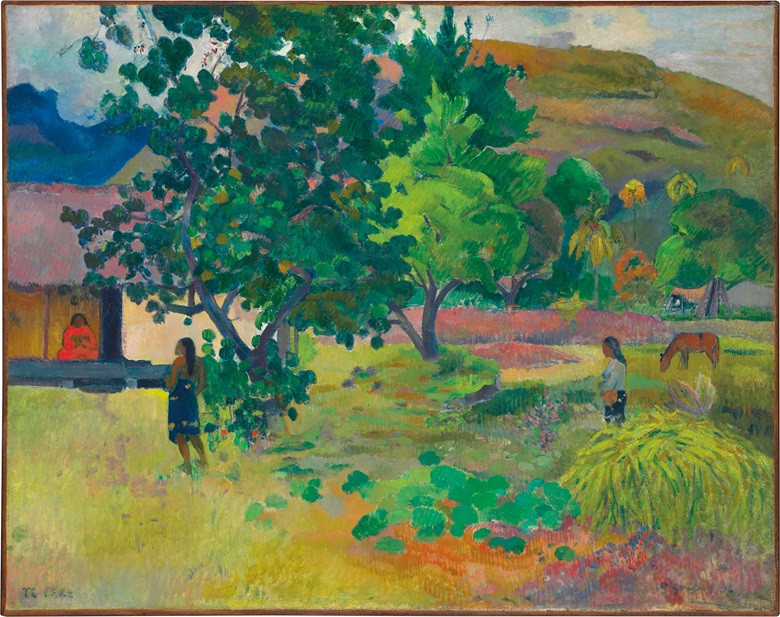 Paul Gauguin (1848-1903), Te Fare (La maison), 1892. Oil on canvas, 28¾ x 36⅙ in (72.6 x 91.8 cm). Estimate £12,000,000-18,000,000. This work is offered in Impressionist & Modern Art Evening Sale in London on 28 February 2017