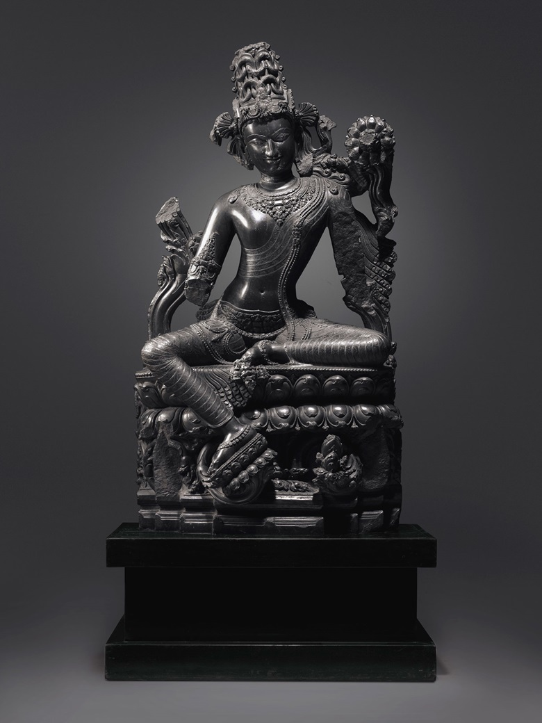 A large and important black stone figure of Lokanatha (Avalokiteshvara), northeastern India, Pala period, 12th century. 58 inches (147.4 cm) high. Estimate upon request. Sold for $24,663,500 in Himalayan, Indian and South East Asian Art on 14 March at Christie's in New York