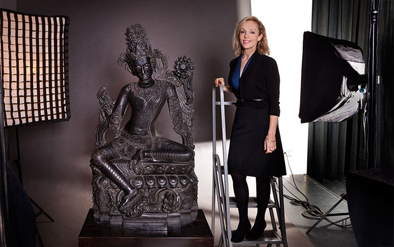 A large and important black stone figure of Lokanatha (Avalokiteshvara), northeastern India, Pala period, 12th century. Sold for $24,663,500 on 14 March at Christie's in New York