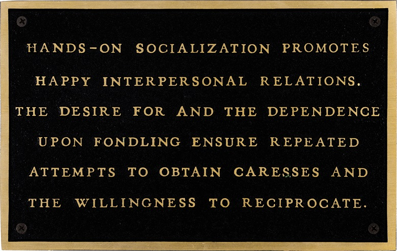 Jenny Holzer (b. 1950), Living Hands on Socialization Promotes..., 1980-82. Cast bronze plaque. This work is number two from an edition of three plus one artist's proof. Estimate $8,000-12,000. This work is offered in Post-War and Contemporary Art on 3 March at Christie's in New York