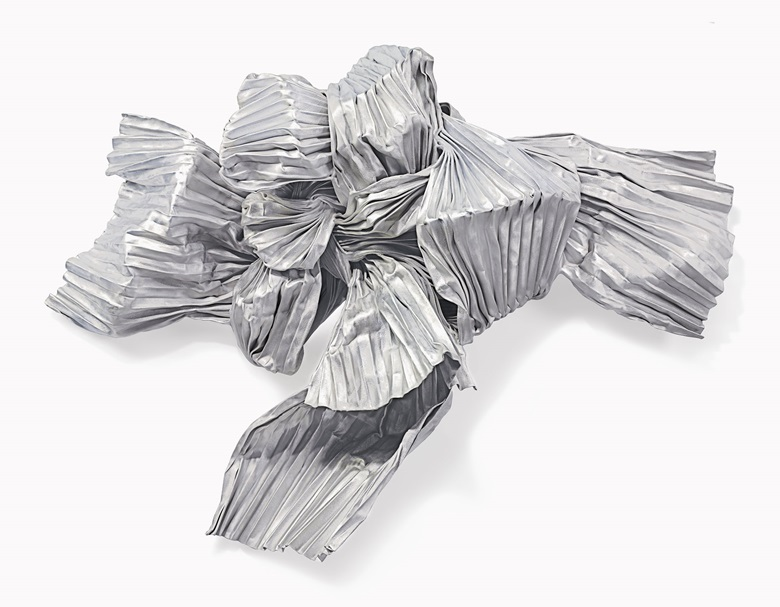 Lynda Benglis (b.1941), Circinus, 1985. Bronze wire mesh, zinc and aluminium, 55 x 75 x 21¼ in (139.7 x 190.5 x 54 cm). Estimate $80,000-120,000. This work is offered in Post-War and Contemporary Art on 3 March at Christie's in New York