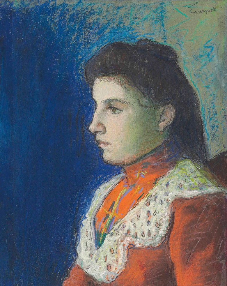 Albert Marquet (1875-1947), Portrait de Clémentine, circa 1895. Pastel, gouache and pen and ink on paper, 11 x 8⅝ in (27.8 x 22 cm). Estimate £7,000-10,000. This lot is offered in Impressionist and Modern Works on Paper on 1 March 2017 at Christie's in London, King Street