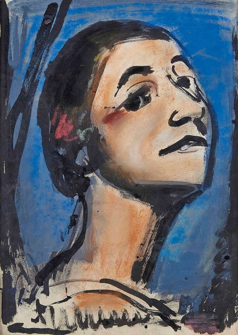 Georges Rouault (1871-1958), Carmen, circa 1925. Brush and India ink and pastel on paper, 20½ x 14½ in (51.8 x 36.9 cm). Estimate £10,000-15,000. This lot is offered in Impressionist and Modern Works on Paper on 1 March 2017 at Christie's in London, King Street