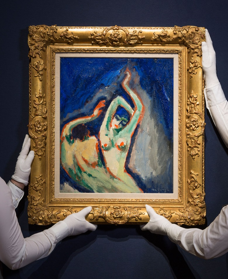 Kees van Dongen (1877-1968), Deux anges. Oil on canvas, 21⅝ x 18⅛ in (54.8 x 45.9 cm). This work was offered in the Impressionist & Modern Art Evening Sale on 28 February 2017 at Christie's London and sold for £989,000
