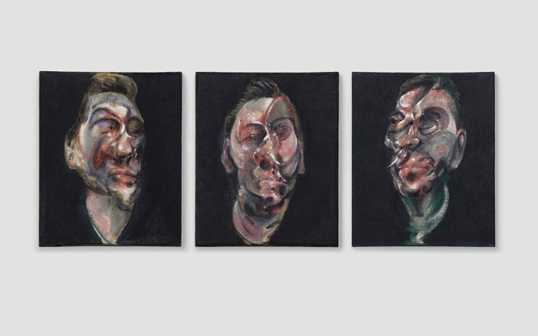 Francis Bacon (1909-1992), Three Studies for a Portrait of George Dyer, 1963. Oil on canvas, in three parts. Estimate $50,000,000-70,000,000. This work will be offered in the Post-War and Contemporary Art Evening Sale on 17 May at Christie's in New York