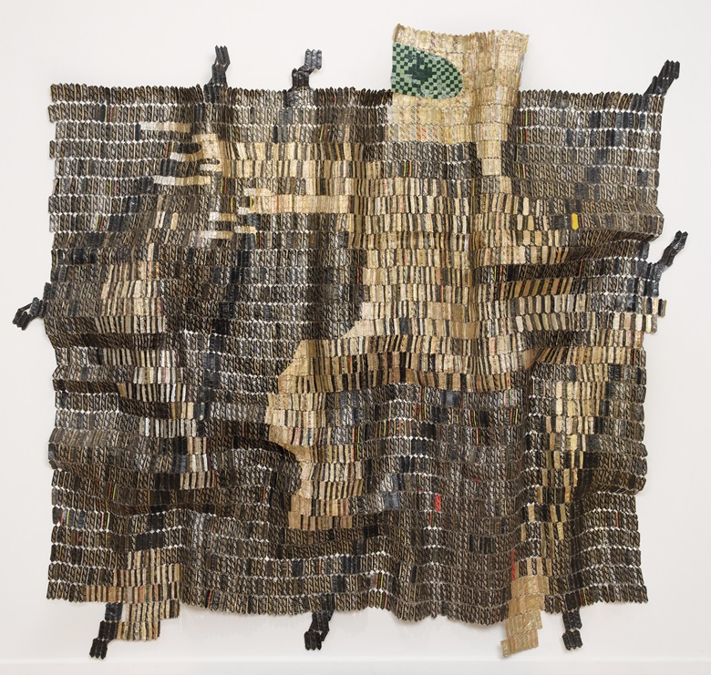 El Anatsui (b.  1944), Warrior, 2015. Aluminium and copper wire, 124 x 137¾ in (315 x 350cm). Estimate £400,000-600,000. This lot is offered in Post War & Contemporary Art Day Auction on 8 March 2017 at Christie's in London, King Street