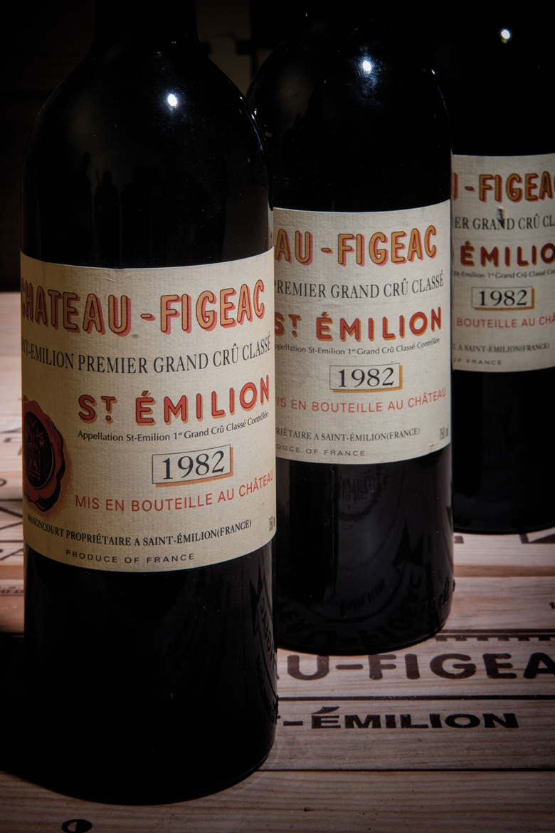 Château Figeac 1982. 12 bottles per lot. Estimate £2,400-3,000. This lot is offered in Fine and Rare Wine Including a superb range of vintages from the cellars of Château Figeac on 16 March 2017 at Christie's in London, King Street
