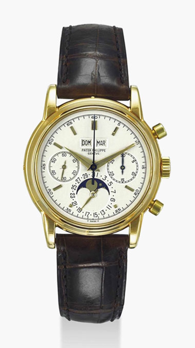Patek Philippe. An extremely fine and rare 18k gold perpetual calendar chronograph wristwatch with moon phases, original certificate and box. Signed Patek Philippe, Genève, ref. 2499100, Fourth Series, Movement No. 869'415, Case No. 2'779'184, manufactured in 1981. Estimate $400,000-600,000. This lot is offered in Important Watches on 19 March 2017 at Christie's in