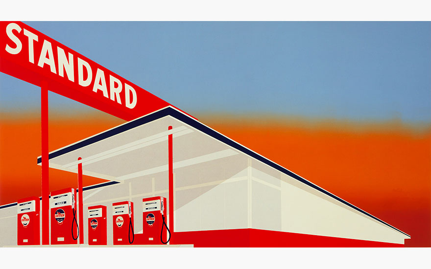 Edward Ruscha (b. 1937), Standard Station, 1966. Screenprint. The Museum of Modern Art, New YorkScala, Florence © Ed Ruscha. Reproduced by permission of the artist