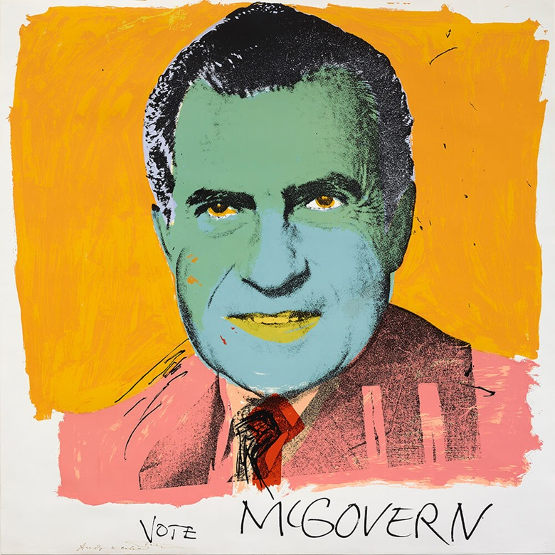 Andy Warhol (1928-1987), Vote McGovern, 1972, Screenprint © 2017 The Andy Warhol Foundation for the Visual Arts. IncArtists Rights Society (ARS), New York and DACS, London