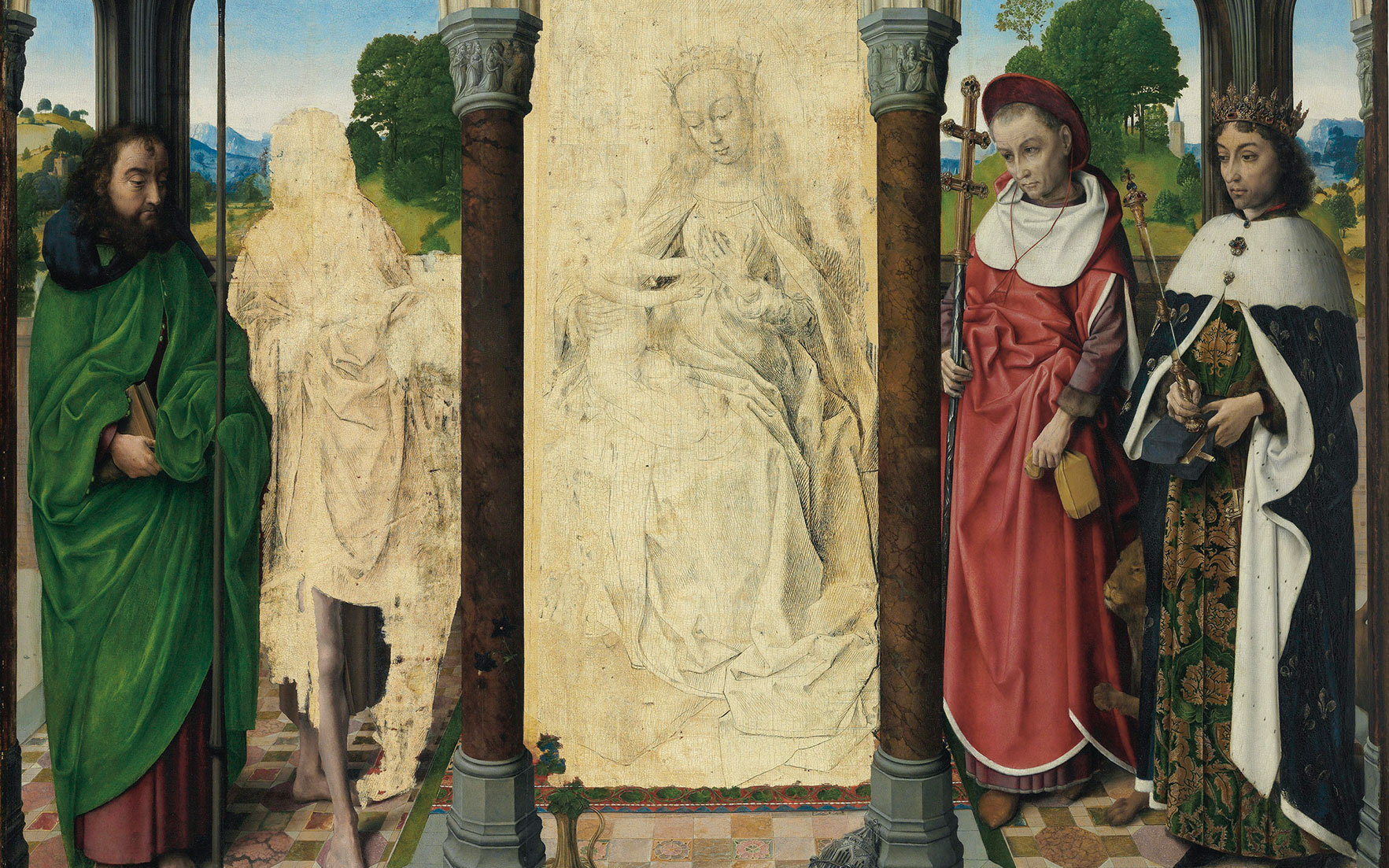 Rare Renaissance altarpiece to