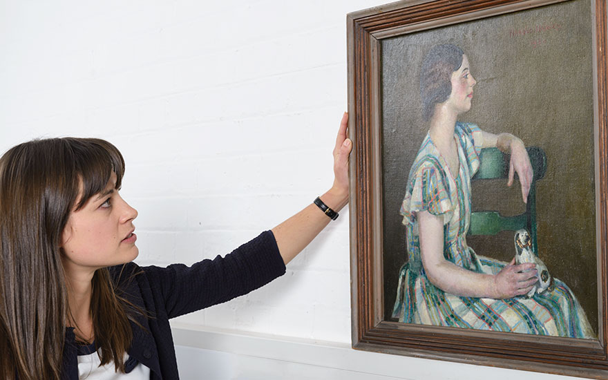5 minutes with… A mysterious Harold Harvey portrait discovered in a charity shop
