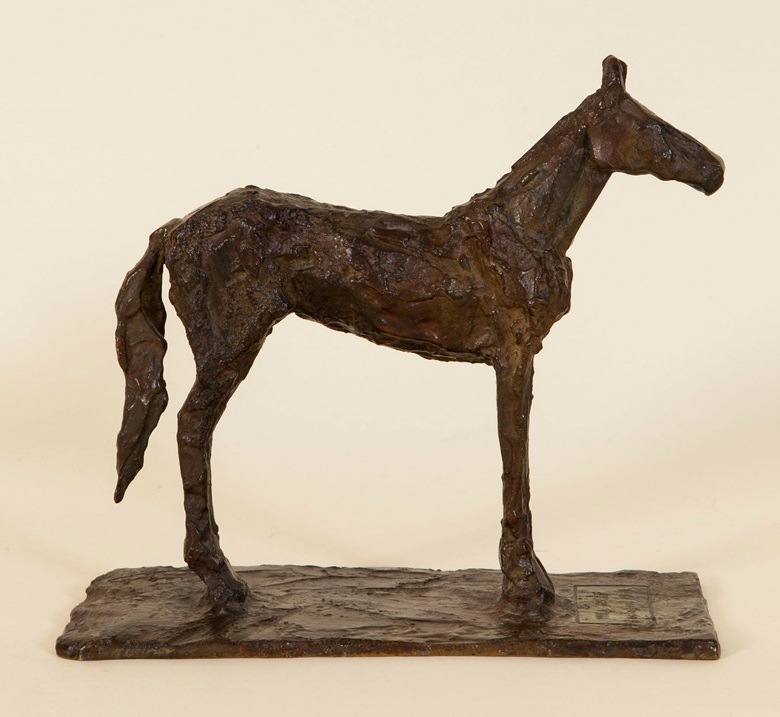 Diego Giacometti, Mill Reef, 1971. Bronze statuette commissioned by Hubert de Givenchy for Bunny Mellon. Courtesy LArc en Seine