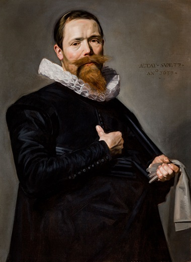 Frans Hals, A Portrait of a Man Holding a Pair of Gloves and A Portrait of a Woman Holding a Pair of Gloves, both inscribed 1637. Oil on canvas. Courtesy Johnny van Haeften