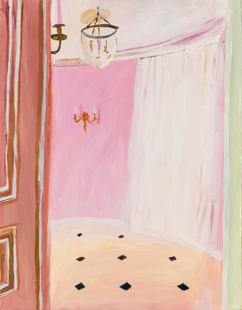 Karen Kilimnik (b.  1955), The Pink Room, 2002. Oil on canvas, 14⅛ x 11 in (35.8 x 27.9 cm). Estimate £8,000-12,000. This lot is offered in First Open on 5 April 2017 at Christie's South Kensington