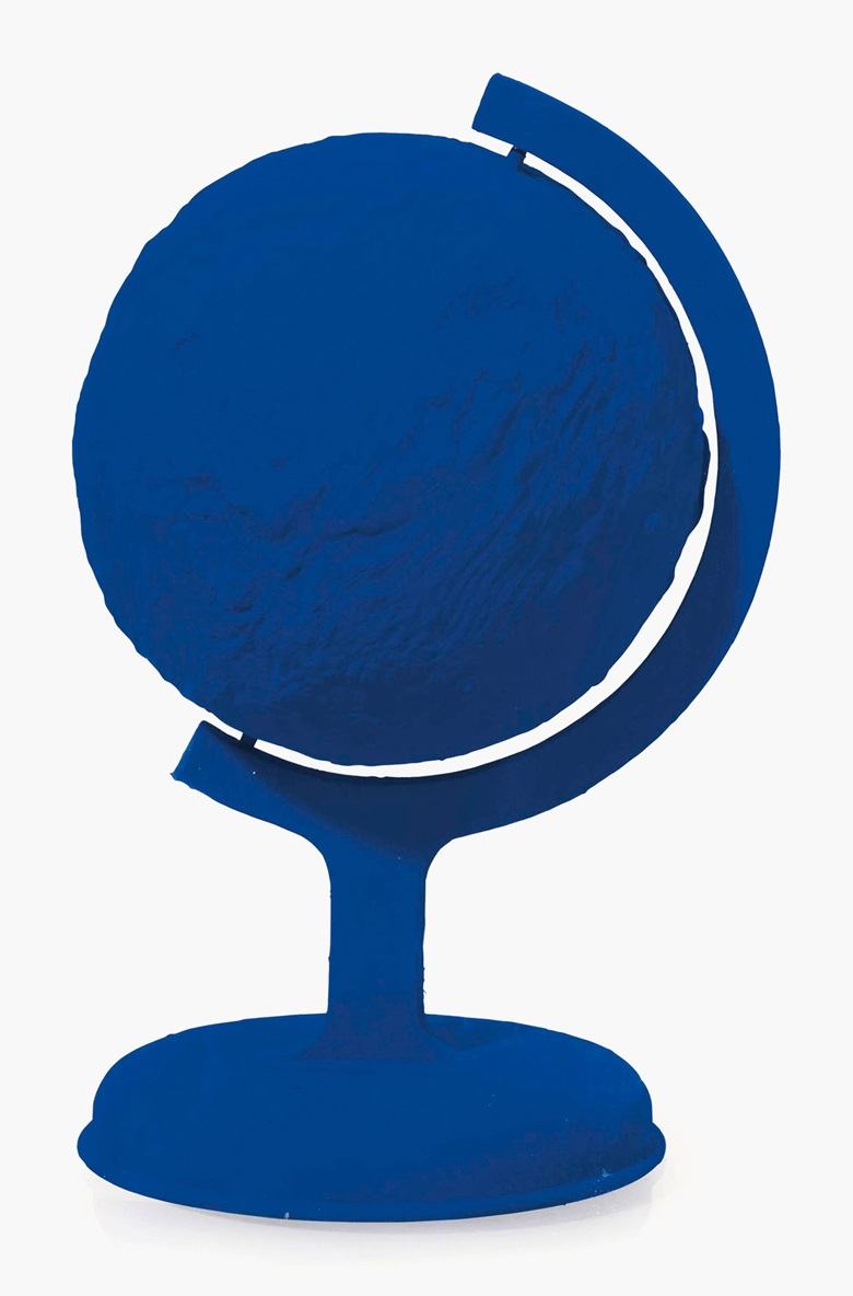 Yves Klein (1928-1963), La Terre Bleue (The Blue Earth), 1957. Dry blue pigment in synthetic resin plaster, 14⅛ x 7 x 7 in (36 x 17.8 x 17.8 cm). This lot was offered in First Open on 5 April 2017 at Christie's in London and sold for £40,000