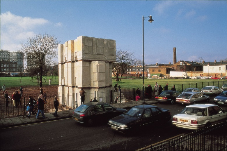 Rachel Whiteread's House (1993) was at Grove Road, East London from 25 Oct 1993 until 11 January 1994. The work, which was was commissioned by Artangel, won the Turner Prize in 1993. Photo Stephen White, courtesy of ArtAngel. © Rachel Whiteread