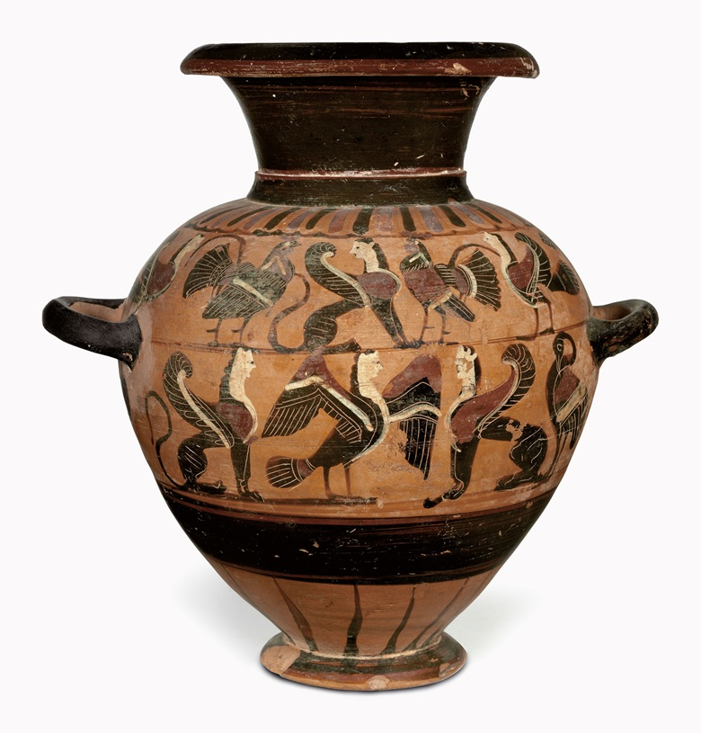 An Attic black-figured hydria. Attributed to the Tyrrhenian Group, c. 570-550 BC. 11¾ in (29.9 cm) high. This lot was offered in Antiquities on 25 April 2017 at Christie's in New York and sold for $47,500