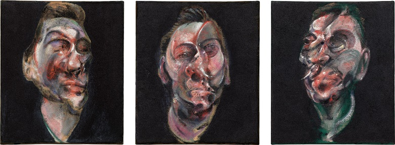 Francis Bacon, Three Studies for a Portrait of George Dyer, 1963. Sold for $51,767,500 in the Post-War and Contemporary Art Evening Sale on 17 May at Christie's in New York