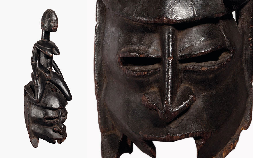 Rare African Dogon mask return