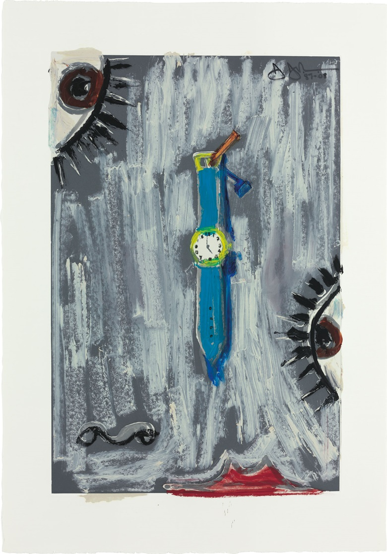 Jasper Johns (b. 1930), Untitled, 1987 and 2008. Pigment stick over etching. 24¼ x 17 in (61.5 x 43.1 cm). Estimate $300,000–500,000. This work is offered in the Post-War and Contemporary Art Morning Sale on 18 May at Christie's in New York