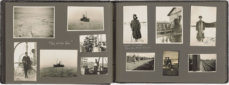 Photograph album. Russia c. 1918-1920. The Royal Air Force in Northern Russia. Estimate $3,000-5,000. This lot is offered in Uprising! Geopolitical Snapshots of the 20th Century on 20-27 April 2017, Online