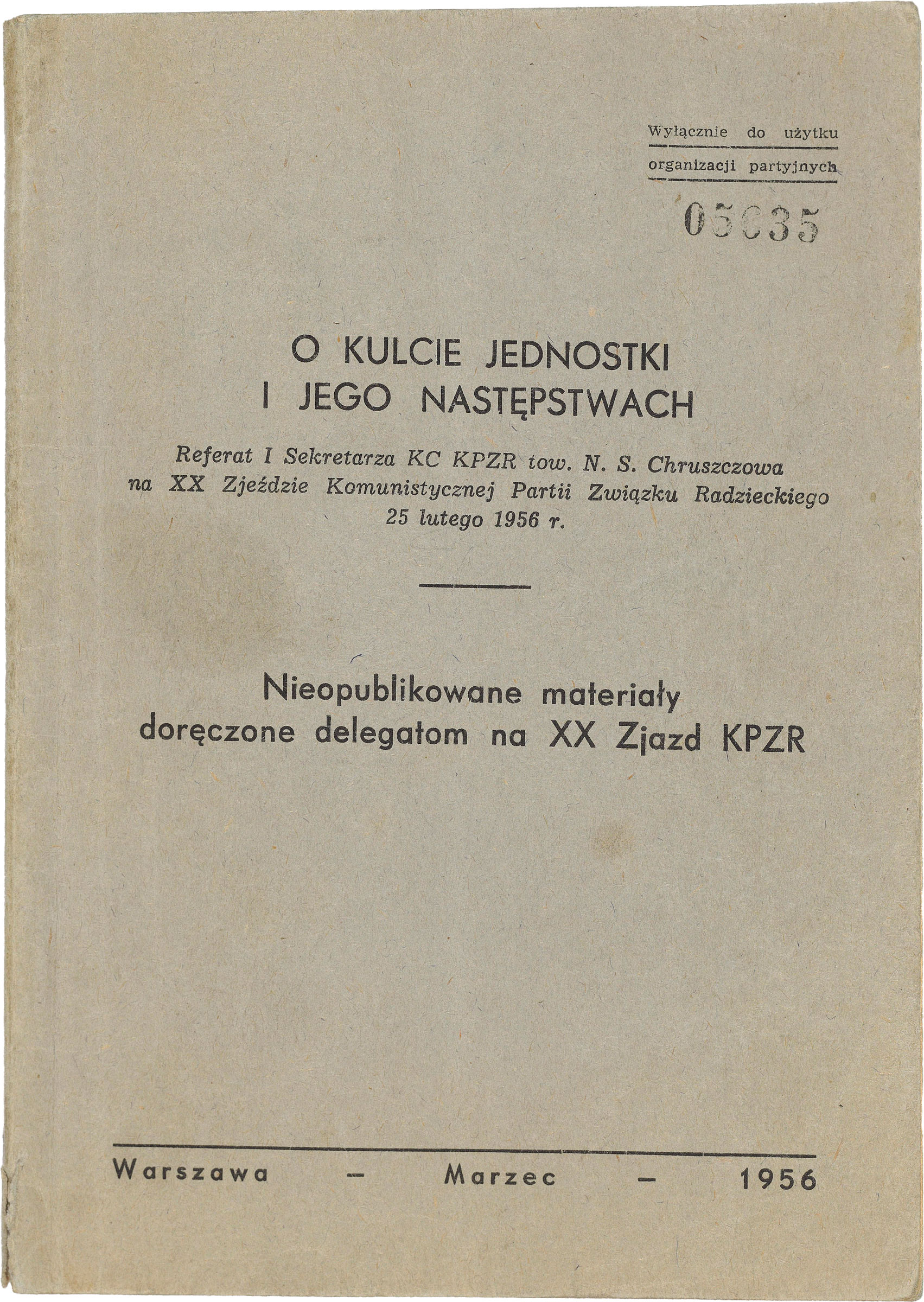 Suppression of the rebellion in 1956 (photos and documents)