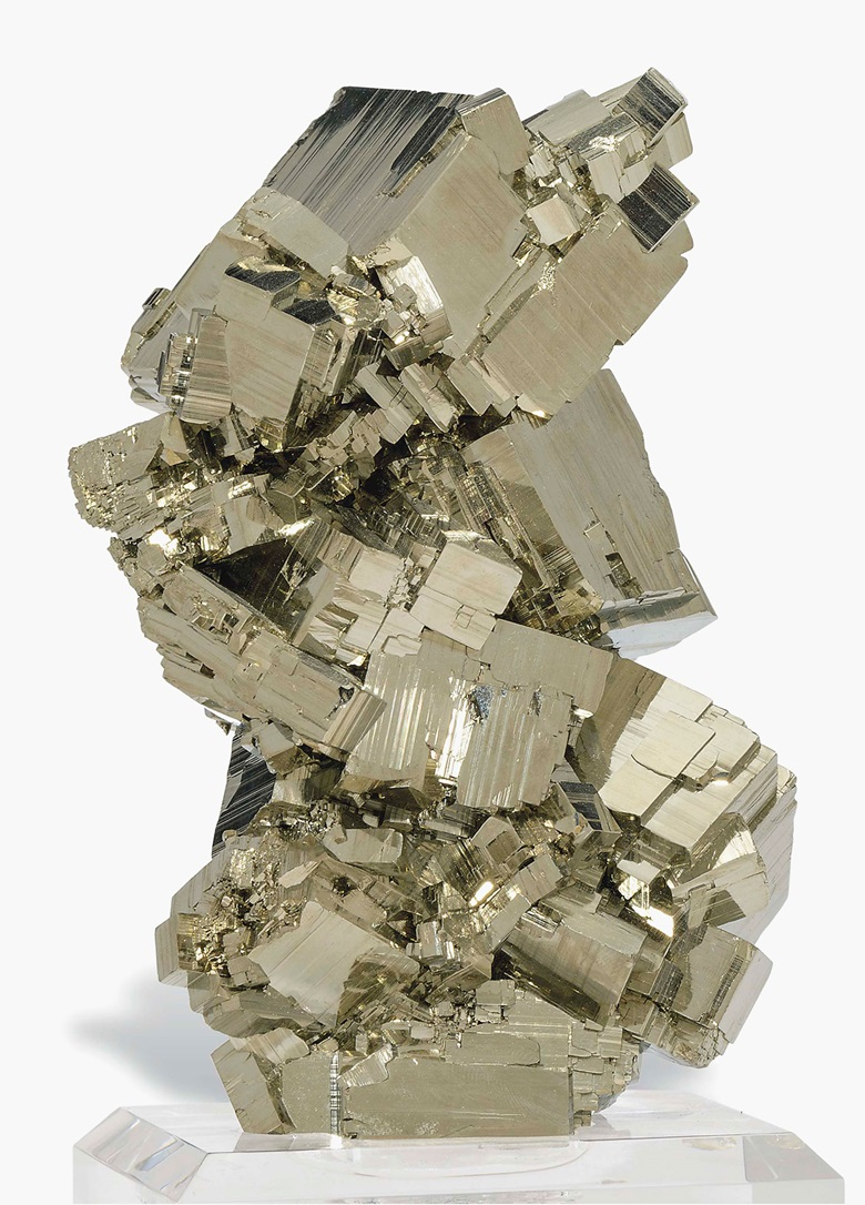 A fine specimen of pyrite. Peru. 7 in (18 cm) high. This lot was offered in Science & Natural History on 27 April 2017 at Christie's in London and sold for £4,000