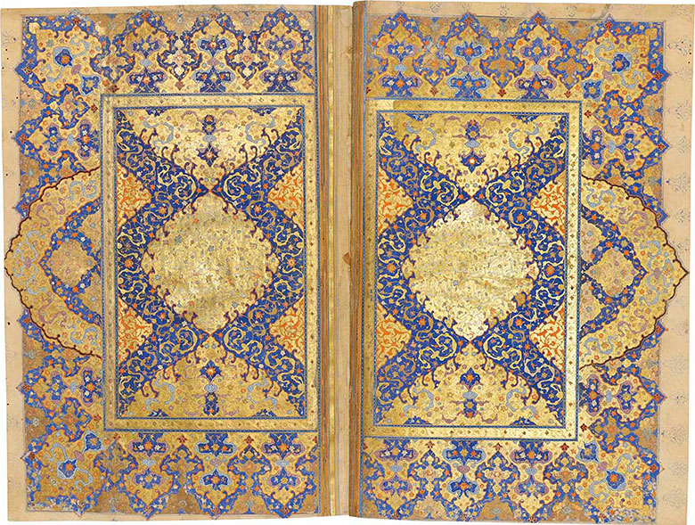 An impressive Safavid Quran. Shiraz, central Iran, c.  1550-80. Text panel 9⅝ x 5½ in (24.3 x 14 cm); folio 14⅛ x 9¼ in (35.7 x 23.3 cm). Estimate £120,000-180,000. This lot is offered in Art of the Islamic and Indian Worlds Including Oriental Rugs and Carpets on 27 April 2017 at Christie's in London, King Street